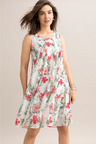 Capture Pleat Front Sleeveless Dress