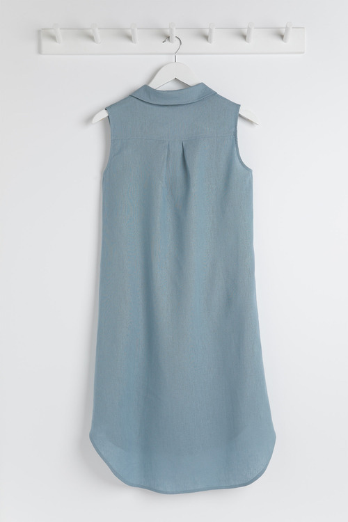 Capture Linen Blend Popover Dress