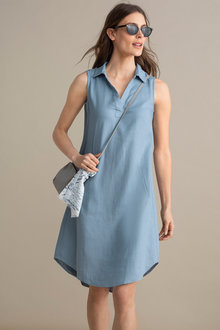 Capture Linen Blend Popover Dress