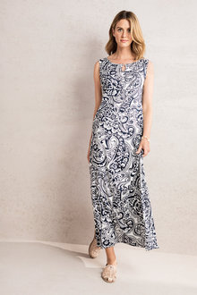 Capture Notch Neck Maxi Dress