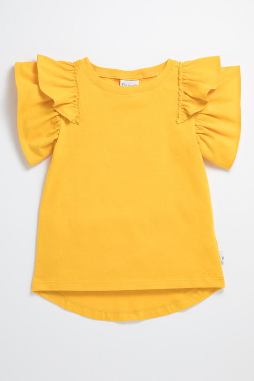 Pumpkin Patch Tee with Frill Short Sleeve