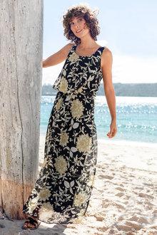 Capture Layered Chiffon Maxi Dress - 236391