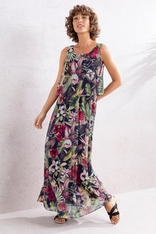 Capture Layered Chiffon Maxi Dress