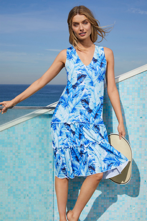 Capture Ruffle Hem Tank Dress