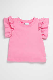 Pumpkin Patch Infants Tee with Frill Sleeve