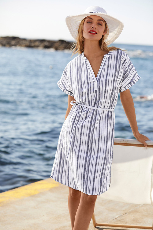 Capture Linen Tie Waist Dress