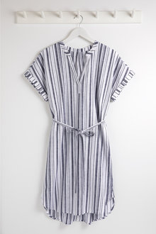 Capture Linen Tie Waist Dress