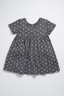 Pumpkin Patch Short Sleeve Knit Dress - 236413