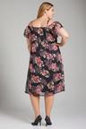 Plus Size - Sara Floral Chiffon Maxi