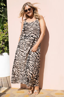 Plus Size - Sara Animal Print Dress