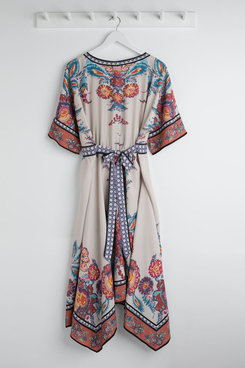 Plus Size - Sara Scarf Print Dress