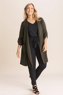 Sara Crepe Longline Jacket - 236421