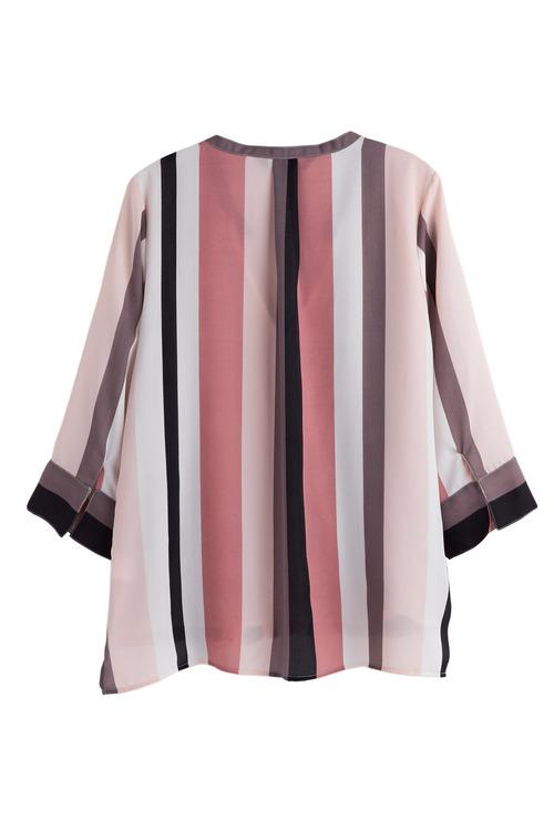 Plus Size - Sara Stripe Crossover Top