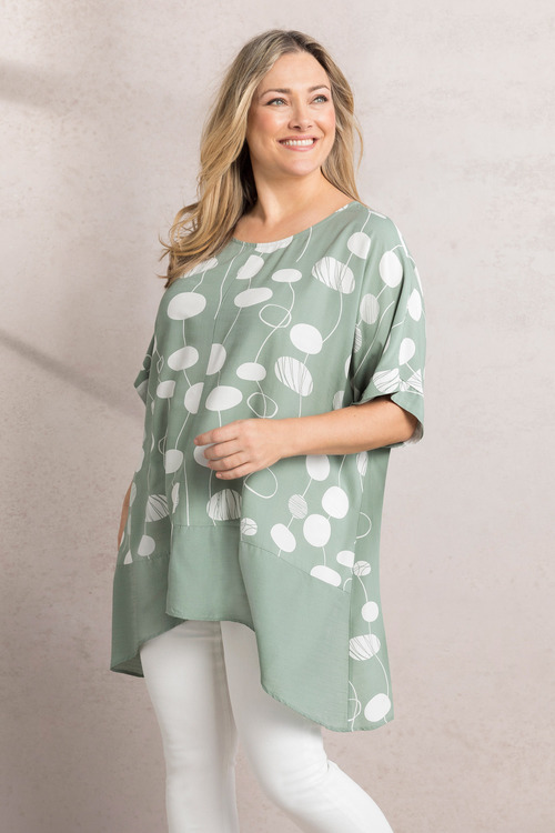 Plus Size - Sara Contrast Trim Top