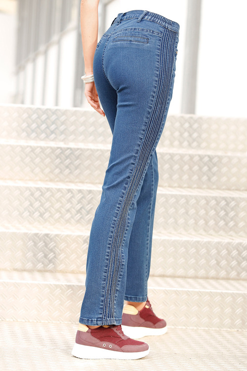 Euro Edit Pintuck Jeans