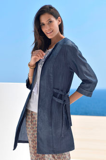 Euro Edit Lyocell Chambray Jacket - 236429