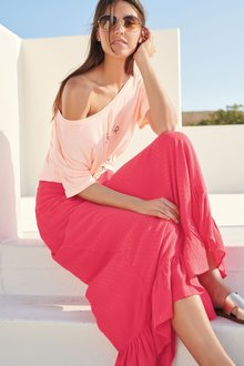 Next Frill Hem Maxi Skirt- Tall