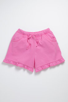 Pumpkin Patch Knit Shorts with Frill