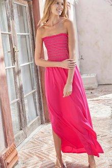 Next Shirred Boobtube Maxi Dress- Tall