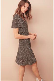 Next Wrap Button Dress- Tall