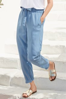 Next Tencel Tapered Trousers- Tall