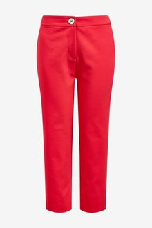Next Straight Leg Cropped Trousers- Tall
