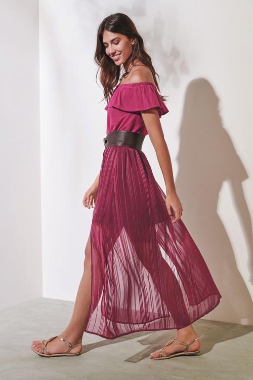 Next Metallic Maxi Skirt- Tall