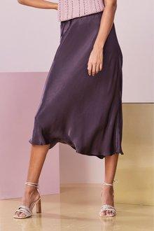 Next Satin Midi Skirt- Tall