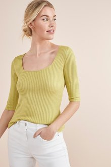 Next Square Neck Top- Tall
