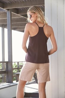Next Linen Blend Knee Shorts- Tall