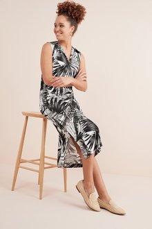 Next Ruched Jersey Midi Dress- Tall