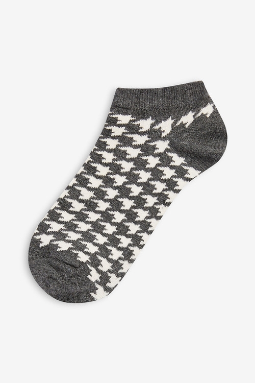 Next Dogtooth Trainer Socks Five Pack