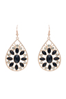 Amber Rose Teardrop Floral Statement Earring