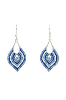 Amber Rose Morroccan Beaded Teardrop Earring