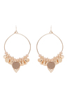 Amber Rose Multi Charm Stamped Hoop Statement Earrings