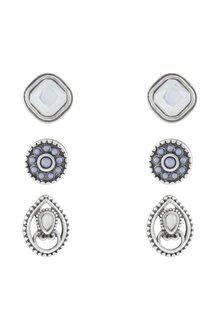 Amber Rose Luna Stud Earring Set