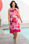 Plus Size - Sara Floral Chiffon Dress