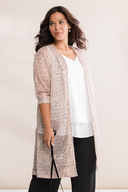 Plus Size - Sara Sequin Jacket