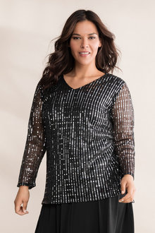Plus Size - Sara Sparkle Top