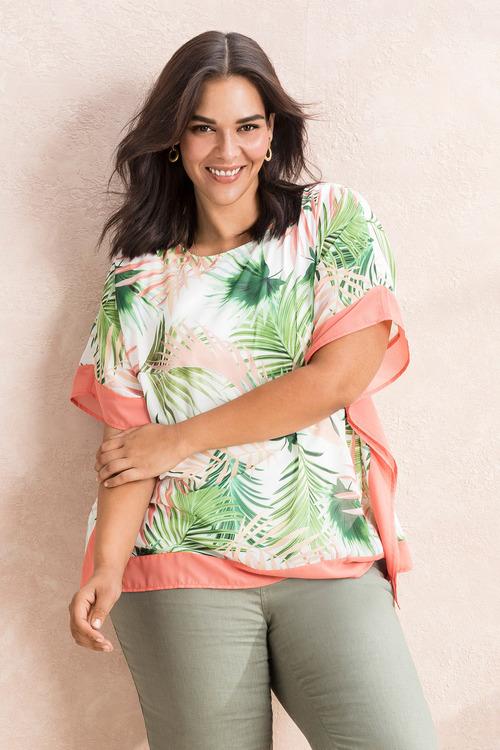 Sara Palm Print Kaftan