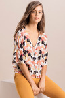 Emerge Kimono Sleeve Button Up Shirt