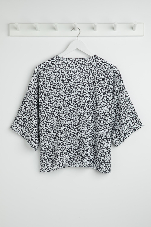 Emerge Kimono Sleeve Button Up Shirt