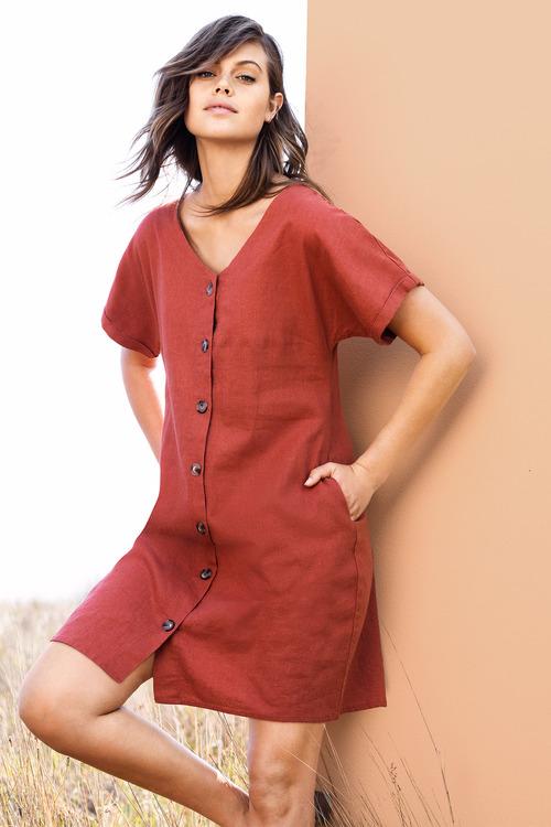 Emerge Button Through Dress