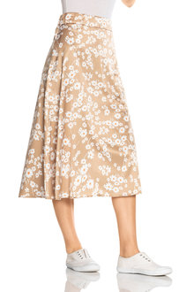 Emerge Printed Midi Skirt - 236619