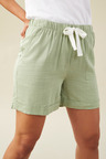 Emerge Linen Blend Drawstring Shorts
