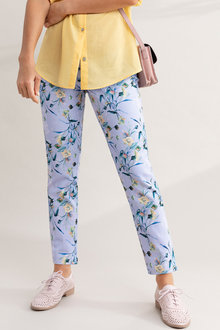Capture Printed Cotton Sateen 7/8 Pants