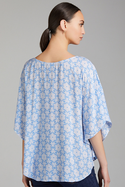Capture Drape Round Neck Top