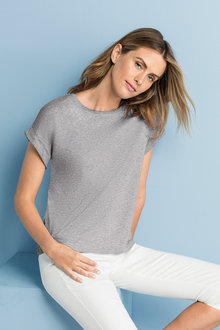 Capture Cuff Sleeve Crop Tee