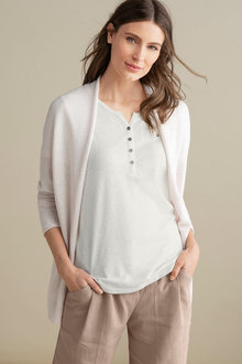Capture Slub Longline Cardigan - 236651