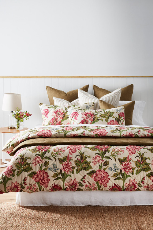 Tapestry Quilted Duvet Cover Set